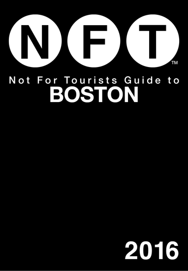 Not For Tourists Guide to Boston 2016 - cover