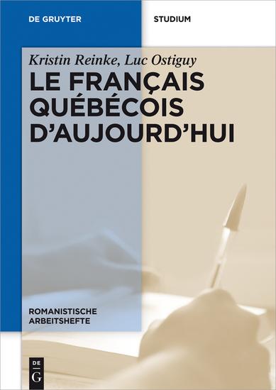 Le français québécois d'aujourd'hui - cover
