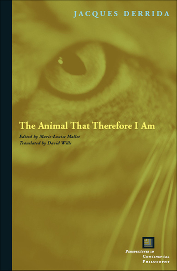 The Animal That Therefore I Am - cover