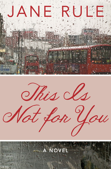 This Is Not for You - A Novel - cover