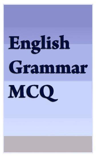 English Grammar MCQ - cover