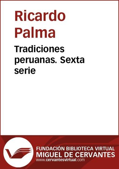 Tradiciones peruanas VI - cover