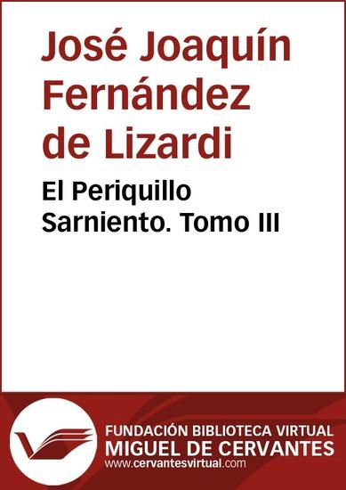 El Periquillo Sarniento III - cover