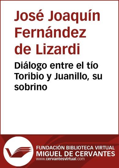 Diálogo entre el tío Toribio y Juanillo su sobrino - cover