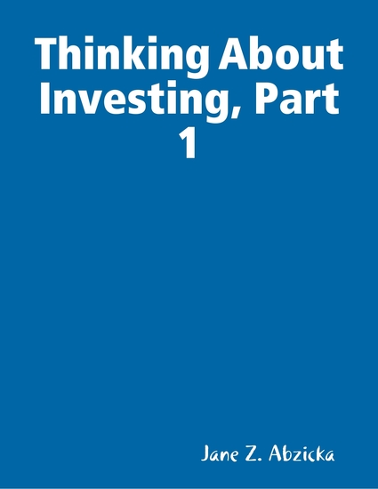 Thinking About Investing Part 1 - cover