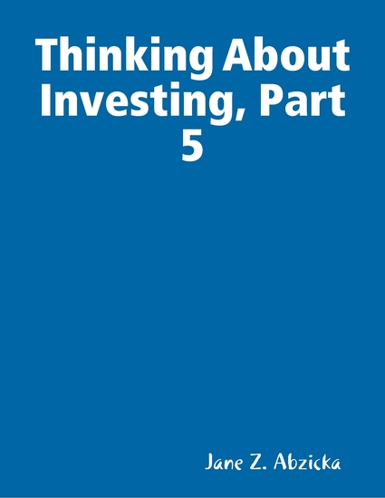 Thinking About Investing Part 5 - cover