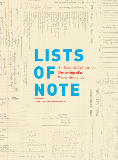 Lists of Note - An Eclectic Collection Deserving of a Wider Audience - cover