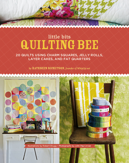 Little Bits Quilting Bee - 20 Quilts Using Charm Squares Jelly Rolls Layer Cakes and Fat Quarters - cover