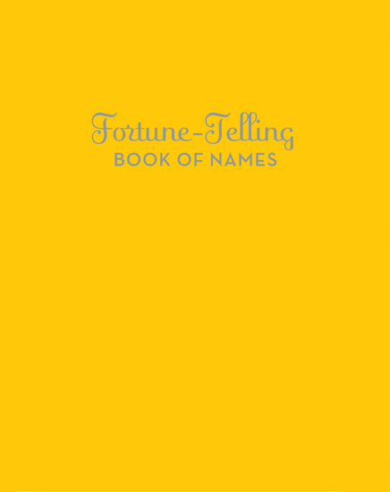 Fortune-Telling Book of Names - cover