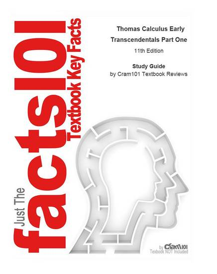 e-Study Guide for: Thomas Calculus Early Transcendentals Part One - cover