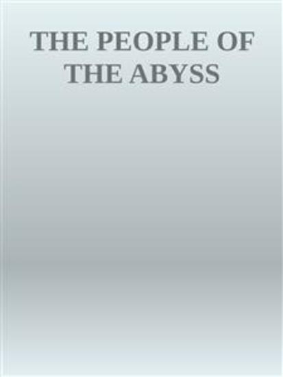The People of the Abyss - cover