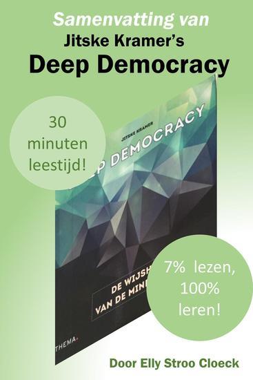 Samenvatting van Jitske Kramer's Deep Democracy - Organisatiecultuur Collectie #1 - cover