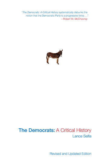 The Democrats - A Critical History - cover