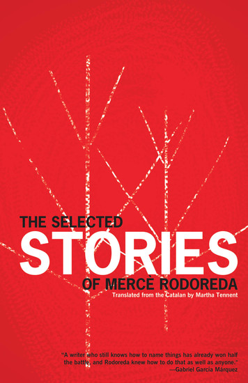The Selected Stories of Mercè Rodoreda - cover