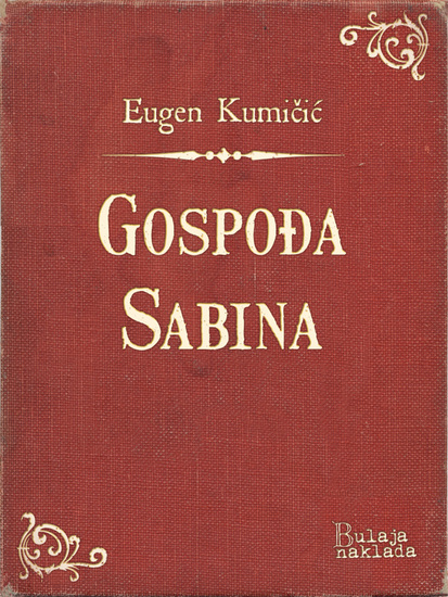 Gospođa Sabina - cover