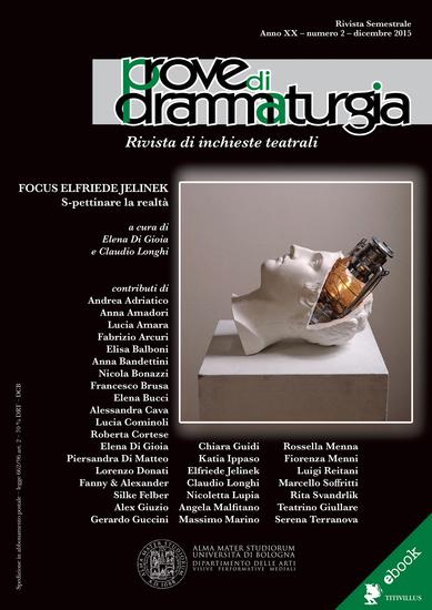 Prove di Drammaturgia n 2 2015 - Rivista di inchieste teatrali - cover