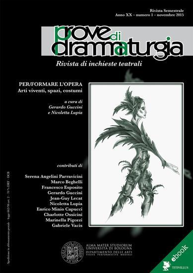 Prove di Drammaturgia n 1 2015 - Rivista di inchieste teatrali - cover