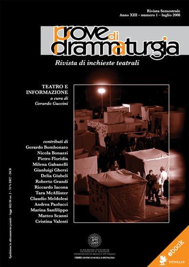 Prove di Drammaturgia n 1 2008 - Rivista di inchieste teatrali - cover