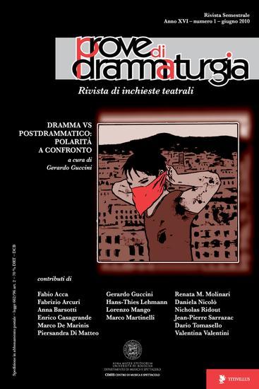 Prove di Drammaturgia n 1 2010 - Rivista di inchieste teatrali - cover