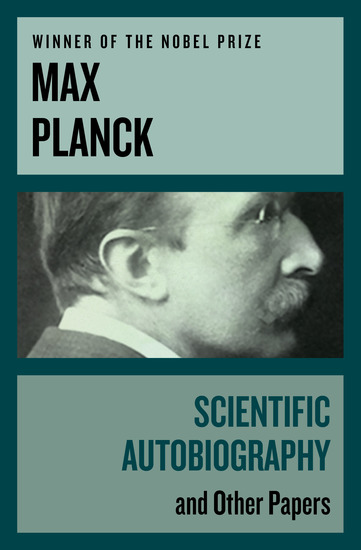 Scientific Autobiography - And Other Papers - cover