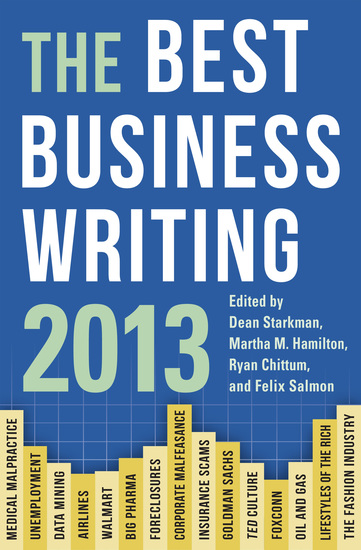 The Best Business Writing 2013 - cover