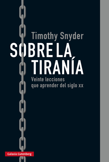 Sobre la tiranía - cover