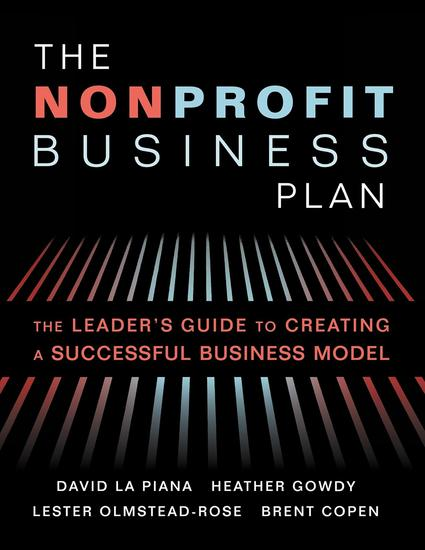 The Nonprofit Business Plan - A Leader's Guide to Creating a Successful Business Model - cover