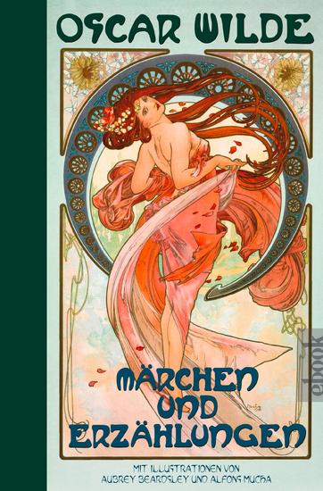 Oscar Wilde: Märchen und Erzählungen: Halbleinen - mit Illustrationen von Aubrey Beardsley und Alfons Mucha - cover