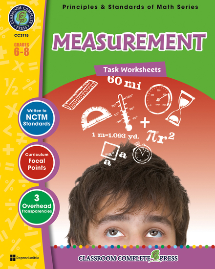 Measurement - Task Sheets Gr 6-8 - cover