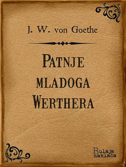 Patnje mladoga Werthera - cover