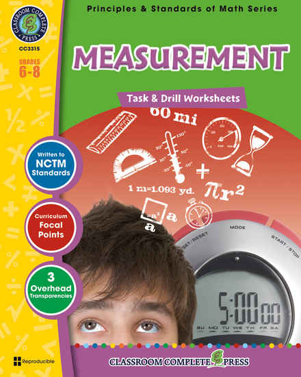 Measurement - Task & Drill Sheets Gr 6-8 - cover