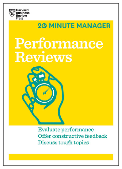Performance Reviews (HBR 20-Minute Manager Series) - cover