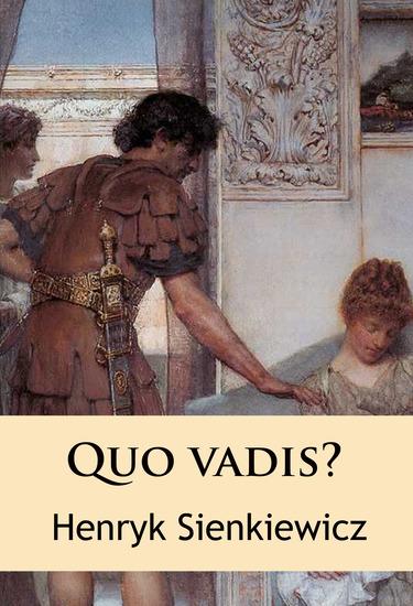 Quo vadis? - historischer Roman - cover