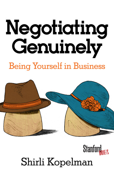 Negotiating Genuinely - Being Yourself in Business - cover