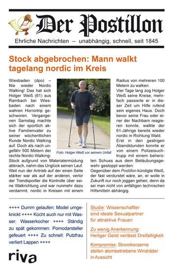 Der Postillon - Ehrliche Nachrichten – unabhängig schnell seit 1845 - cover