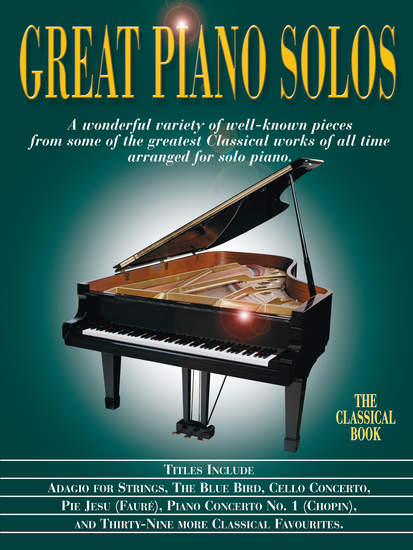 Great Piano Solos: The Classical Book - cover