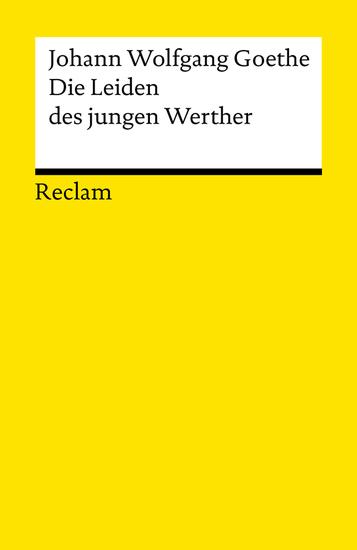 Die Leiden des jungen Werther - Reclams Universal-Bibliothek - cover