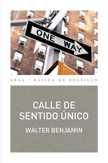 Calle de sentido único - cover