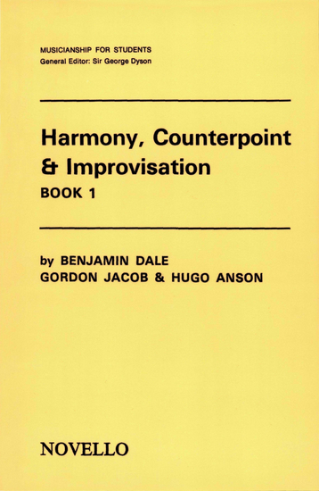 Harmony Counterpoint & Improvisation: Book 1 - cover