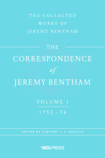 The Correspondence of Jeremy Bentham Volume 1 - 1752 to 1776 - cover