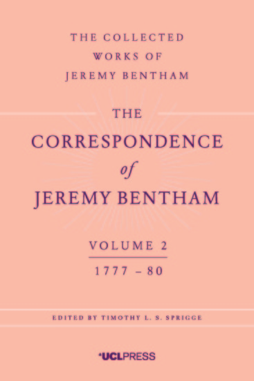 The Correspondence of Jeremy Bentham Volume 2 - 1777 to 1780 - cover