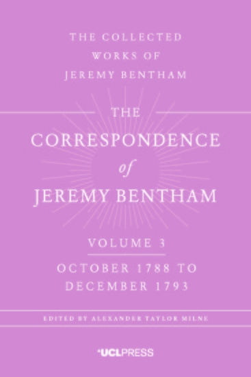 The Correspondence of Jeremy Bentham Volume 4 - October 1788 to December 1793 - cover
