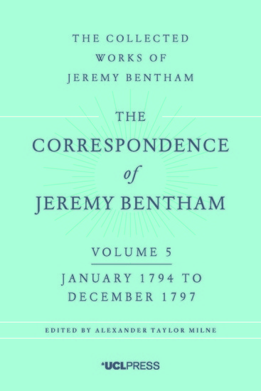 The Correspondence of Jeremy Bentham Volume 5 - January 1794 to December 1797 - cover