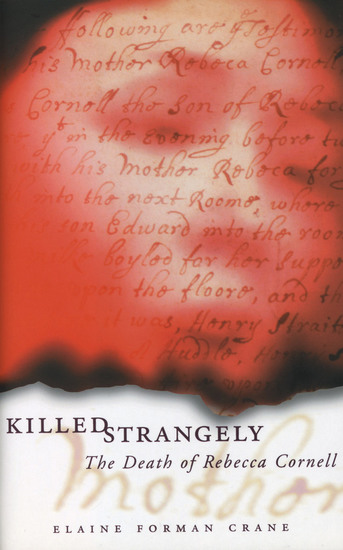 Killed Strangely - The Death of Rebecca Cornell - cover