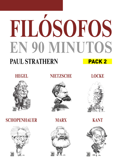 En 90 minutos - Pack Filósofos 2 - Nietzsche Schopenhauer Marx Hegel Kant y Locke - cover