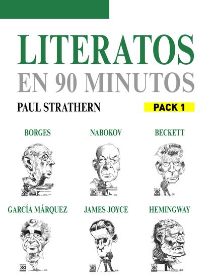 En 90 minutos - Pack Literatos 1 - Borges Nabokov James Joyce Hemingway Beckett y García Márquez - cover