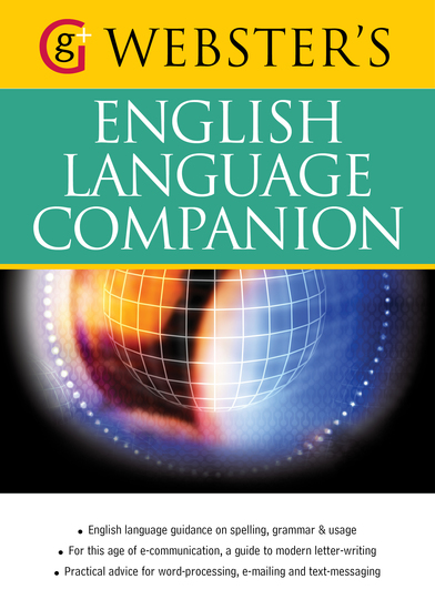 Webster's English Language Companion - English language guidance and communicating in English (US English) - cover