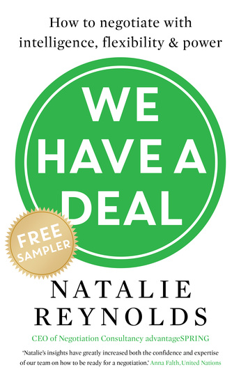 We Have a Deal – FREE SAMPLER - How to Negotiate With Intelligence Flexibility and Power - cover