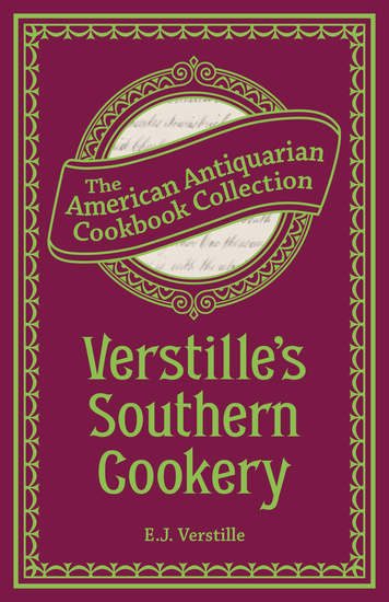 Verstille's Southern Cookery - cover