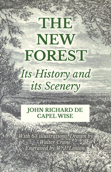 The New Forest - Its History and its Scenery - cover